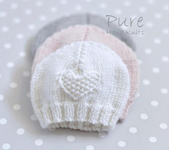 SIMPLE baby hat PREEMIE and NEWBORN knitting pattern | Dos agujas ...