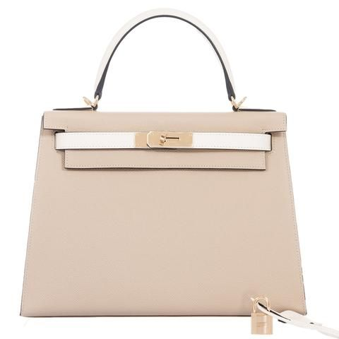 3c76473c44a8 Hermes Kelly 28 Sellier HSS Trench And Craie Epsom Gold Hardware ...
