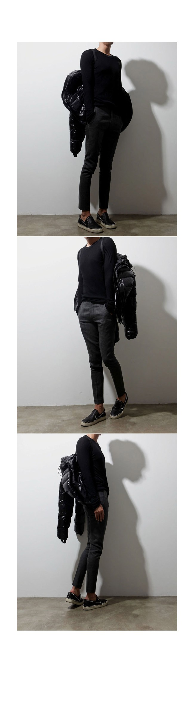 Mens Real Skinny Cozy Slacks 1 Stretch Wool Blends at Fabrixquare
