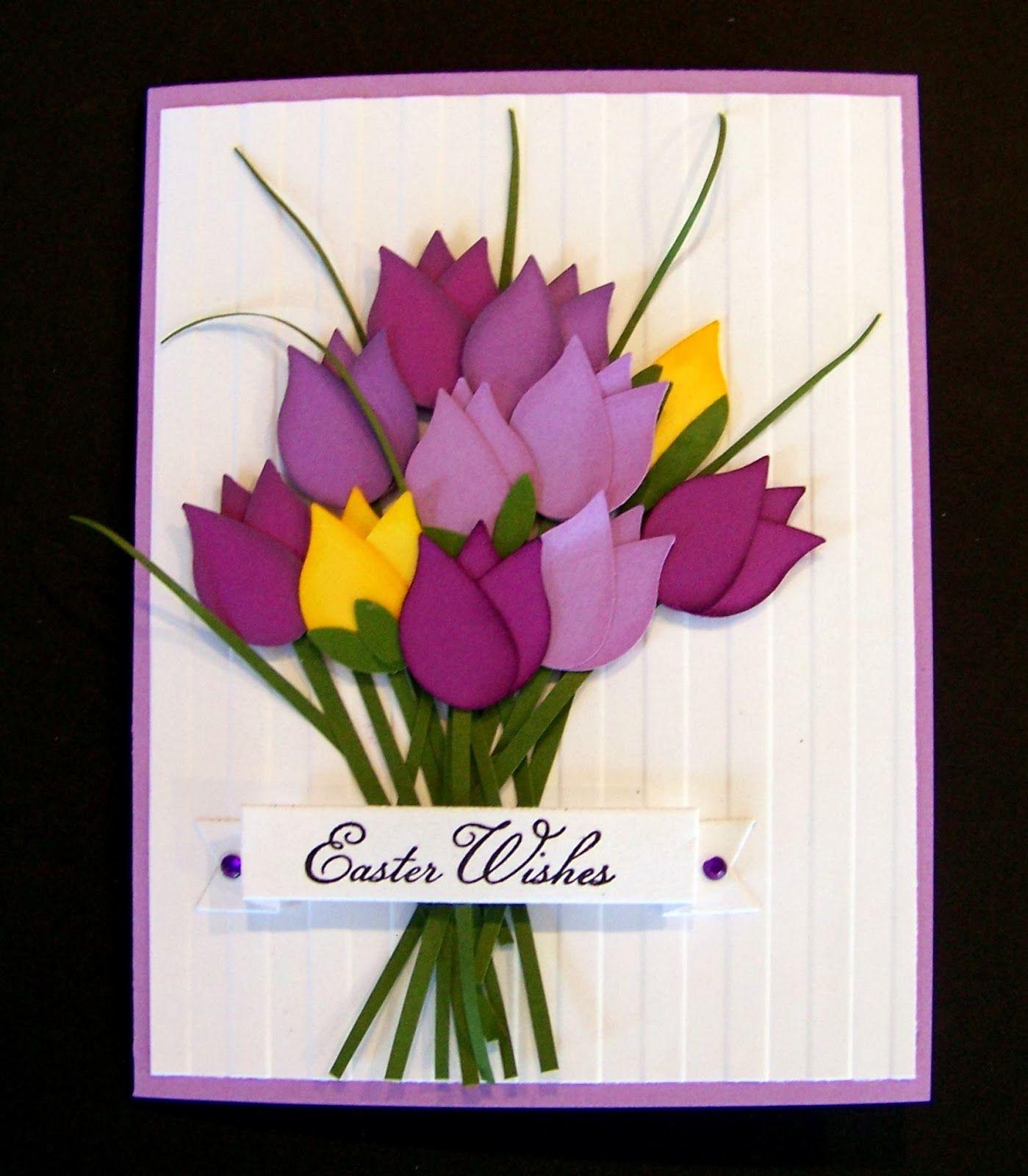 Пожелания, тюльпаны для открытки своими руками