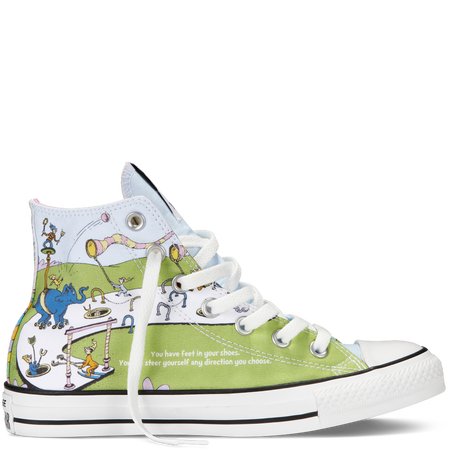 Chuck Taylor Dr Seuss in WhiteGreenery | Oh, the places you