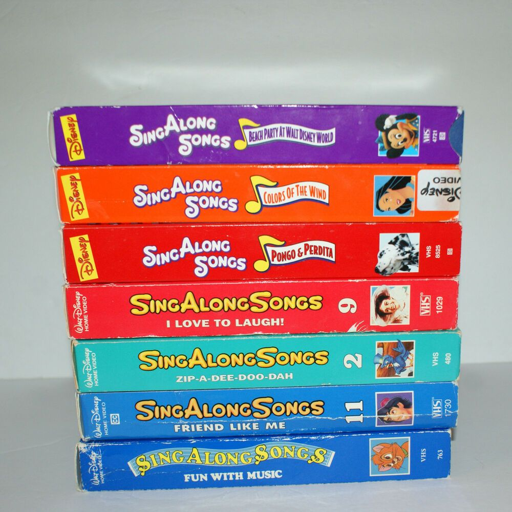 dsiney sing along songs vhs lot of 7 beach party love to laugh fun music disney in 2019. Black Bedroom Furniture Sets. Home Design Ideas