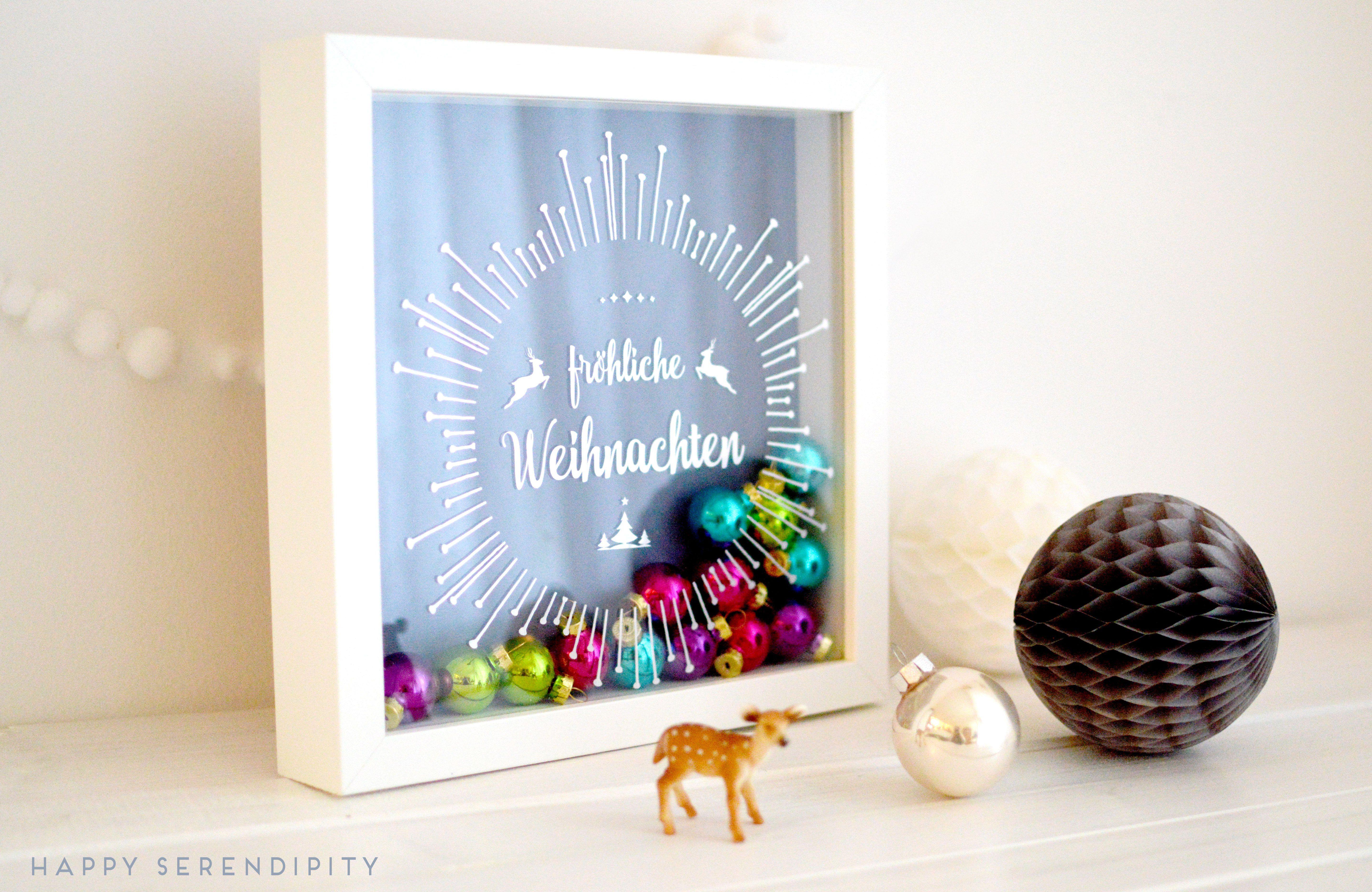 diy} kostenlose plotterdatei für einen weihnachtlichen ribba rahmen ...