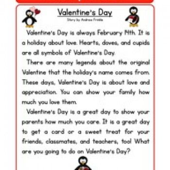 second grade reading comprehension worksheet holiday stories valentines day school. Black Bedroom Furniture Sets. Home Design Ideas