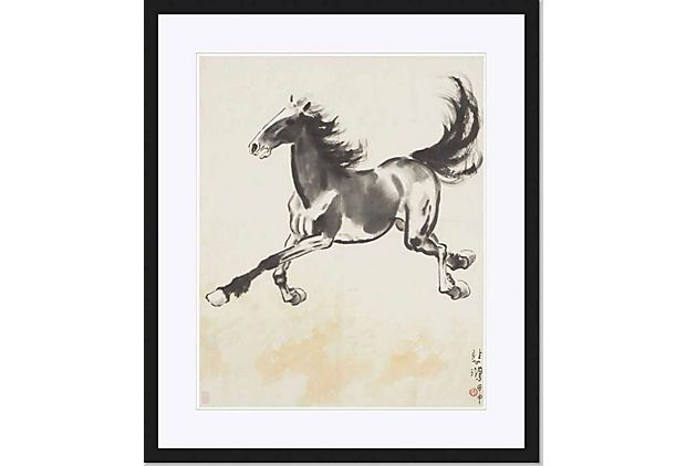 Beihong Xu, Galloping Horse, 1944 on OneKingsLane.com