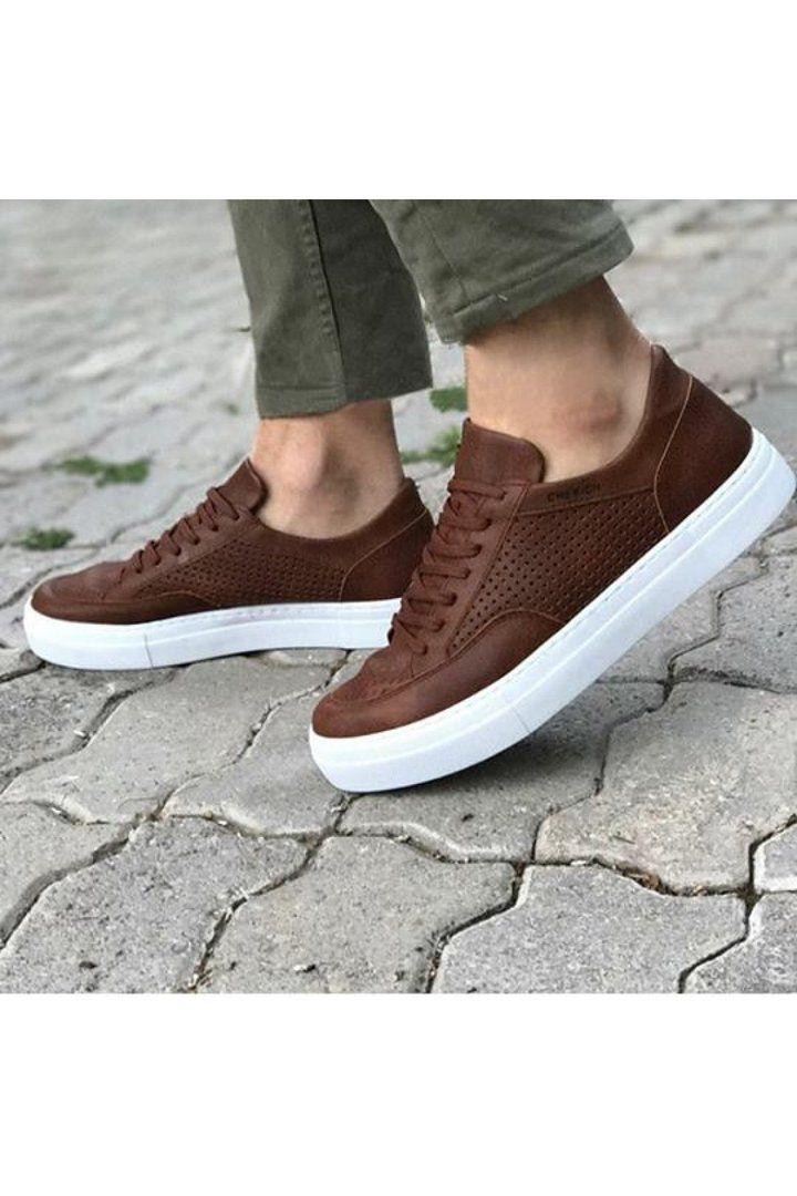 Casual Brown Men`s Sneakers