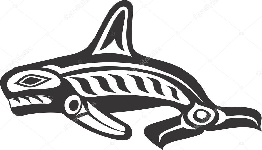 A Native American Orca Design Perfect For A Tribal Tattoo Orca Tattoo Tribal Tattoos Native American Orca Art