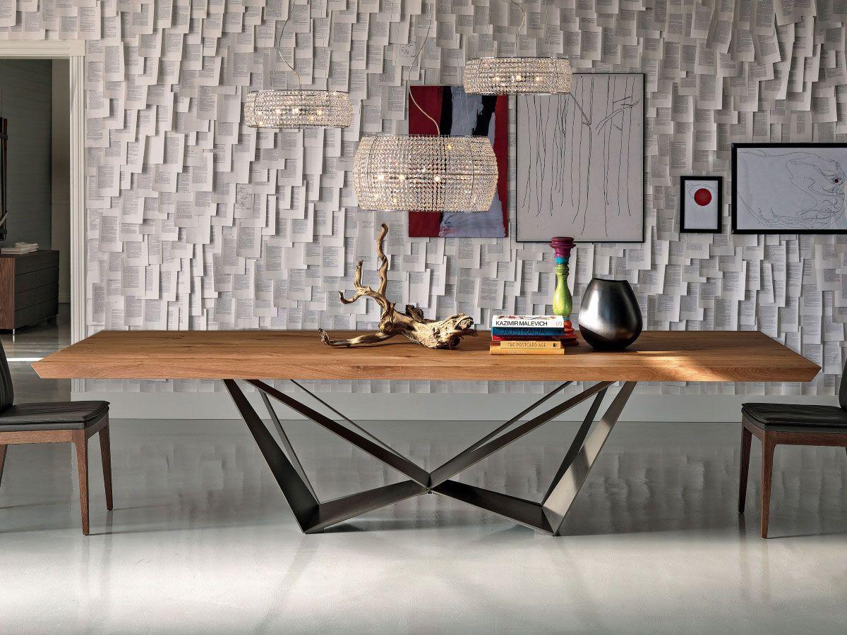 Cattelan Italia Esstisch Skorpio Wood Italienischer Design Esstisch Mit Außergewöhnlichem Gestell 5 Farben Zur Esstisch Design Esszimmertisch Esstisch Modern