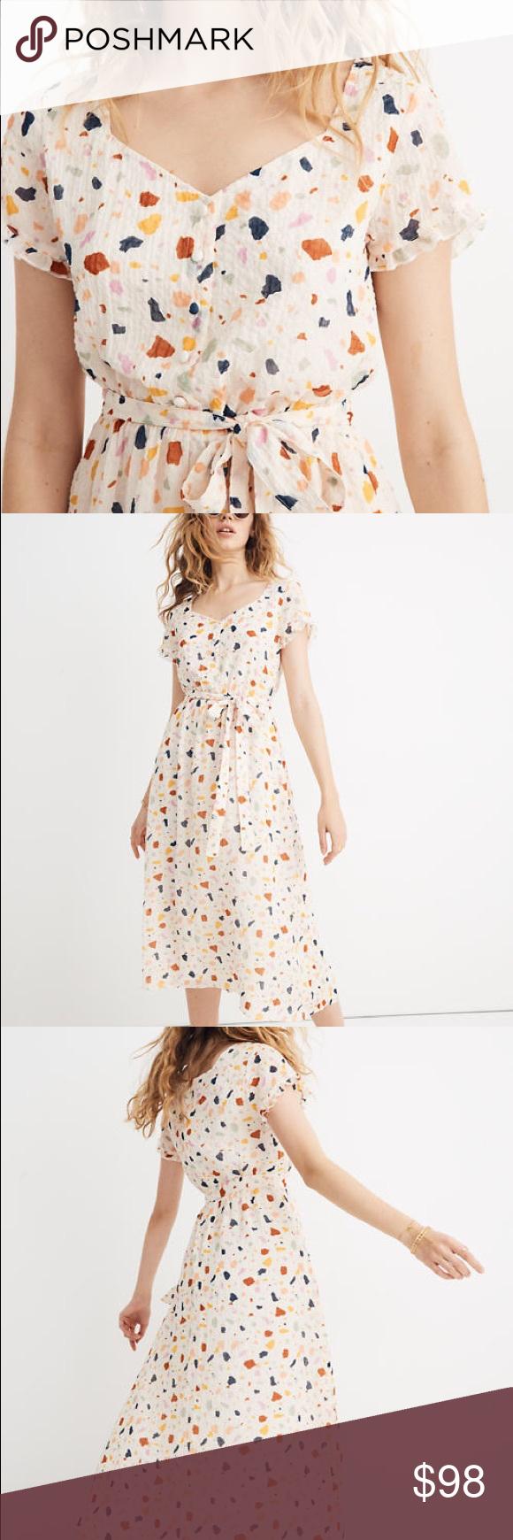 Madewell Terrazzo Tie Waist Midi Dress Dresses Midi Dress Madewell Dresses [ 1740 x 580 Pixel ]