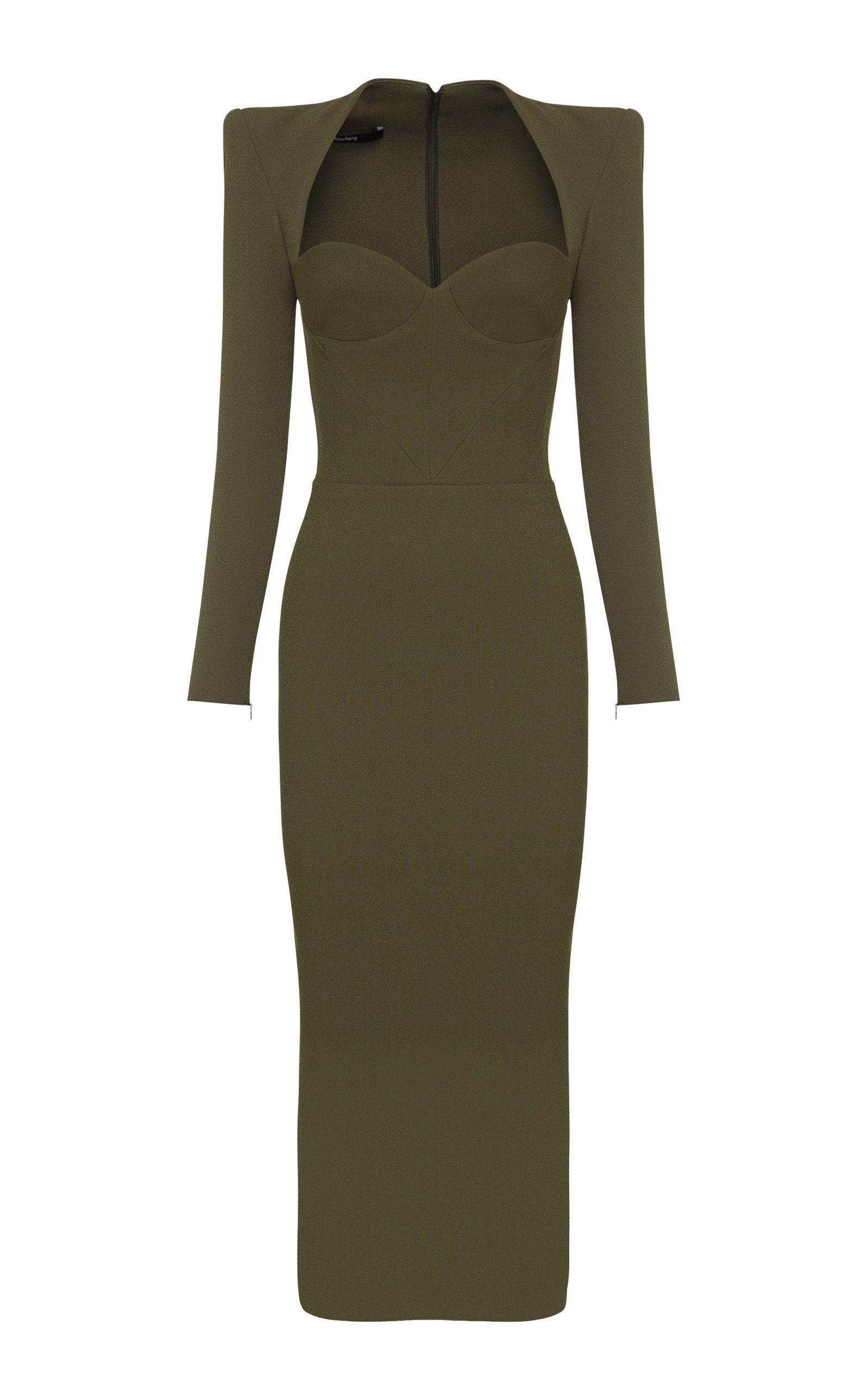 Alex Perry Ambrose Sweetheart Neck Crepe Midi Dress In 2021 Fashion Dresses Dress To Impress [ 2560 x 1598 Pixel ]
