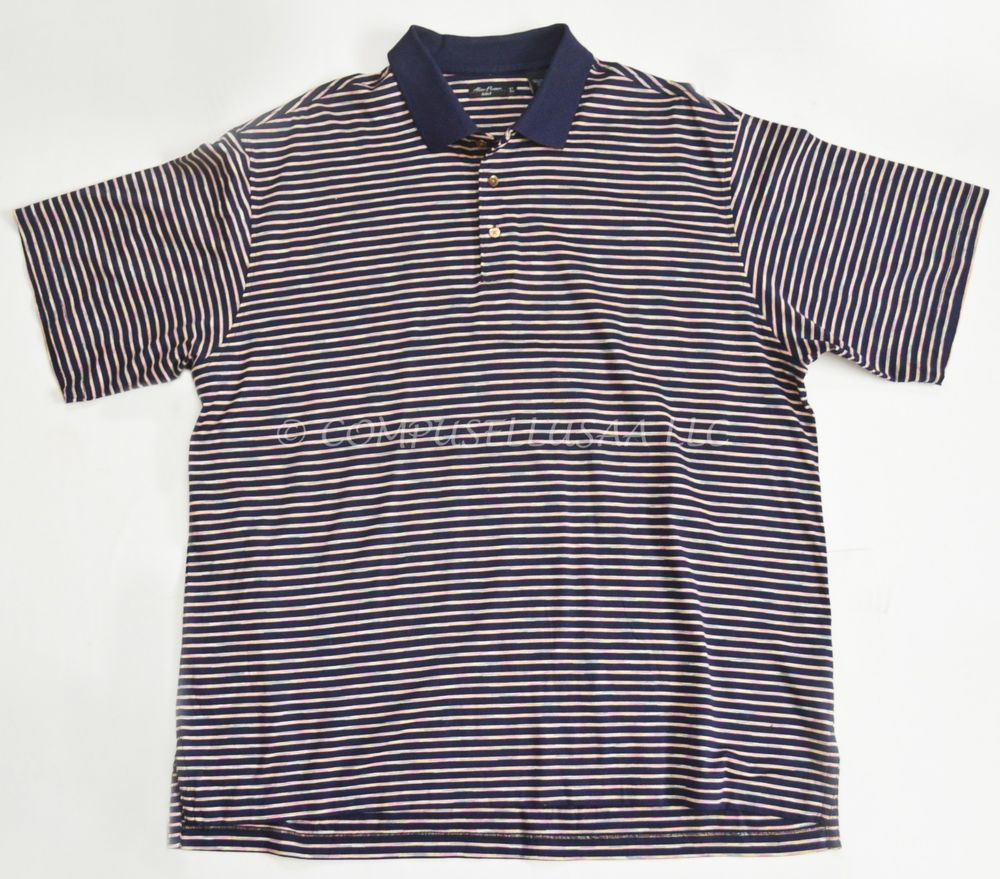 Alan flusser multicolor striped golf shirt menus xl double