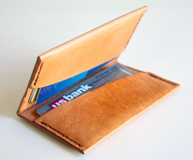 make a leather wallet style