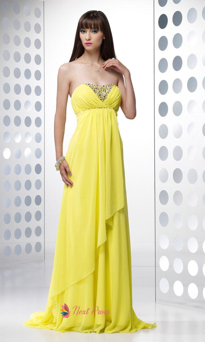 Yellow dresses yellow long prom dresses floor length chiffon yellow dresses yellow long prom dresses floor length chiffon bridesmaid dress np0074 ombrellifo Gallery