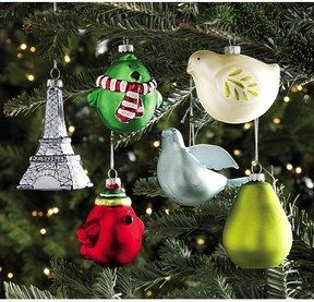 Tag Christmas Holiday Hand-Painted Glass Ornaments - Set of 6 on shopstyle.com