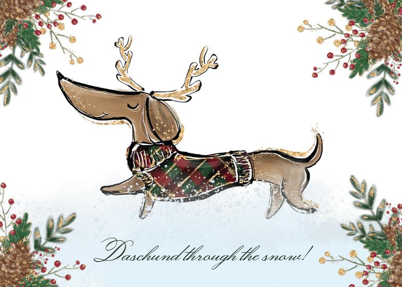 Dachshund Christmas Card Greetings Island Christmas Greeting Cards Christmas Cards Custom Christmas Cards