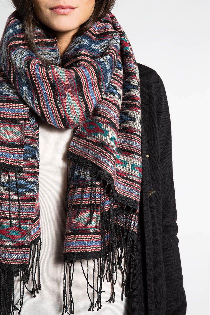 foulard femme ethnique multicolore accessoires vestimentaire pinterest foulard femme. Black Bedroom Furniture Sets. Home Design Ideas
