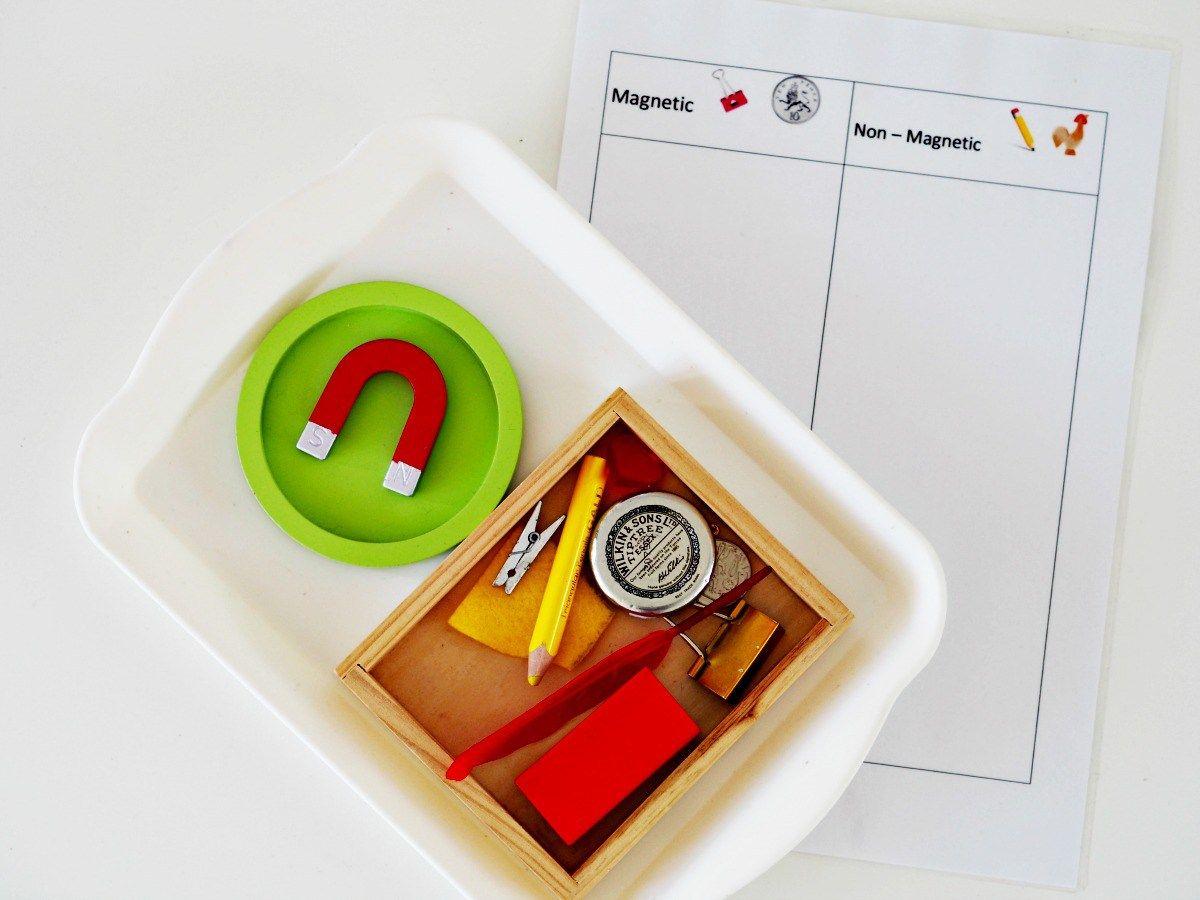 Ten Minute Montessori Exploring Magnets