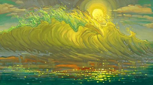 """""""Storm Surf"""" #SurfArt by Bill Ogden. This is another thought provoking piece was inspired by Ogden's view of the external world and his internal thoughts."""