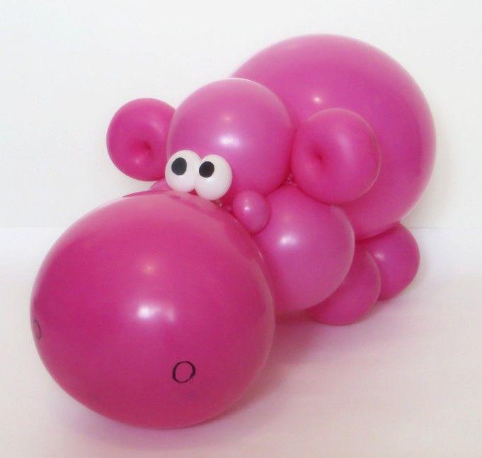 Hipopótamo con globos - Balloons Hippo Decoración Pinterest