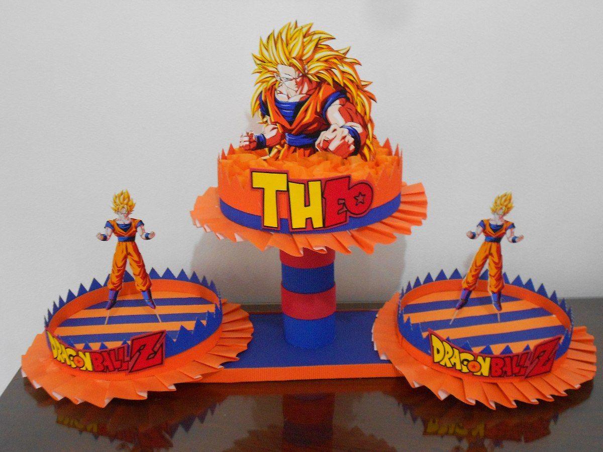 Cumpleaños Dragon Ball Z Bolsitas Centros De Mesa Bandejas 200 Pasteles De Goku Fiesta De Goku Cumpleaños De Dragón