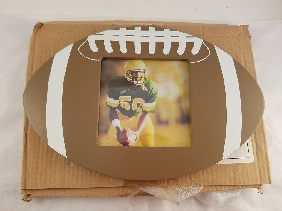 28e0e47360fe Heart to Heart Wooden Football Picture Frame Create your own sports wall of  frame! This Football themed wooden wall frames will make a great addition  to any ...