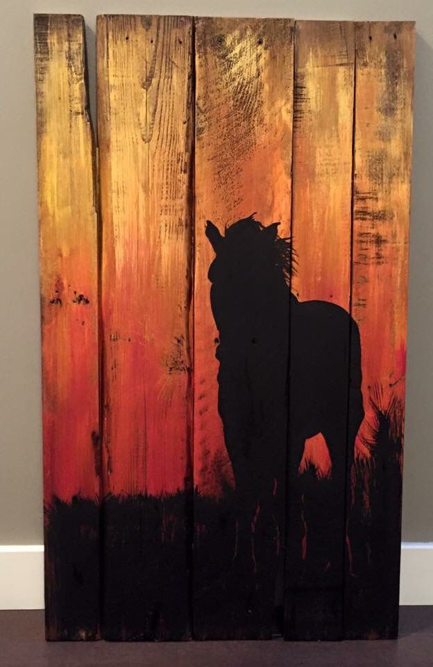 Horse Wood Painting