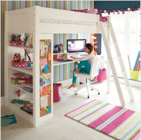 Lindas ideas para decorar la habitaci n de una ni a room kids s and bedrooms - Ideas para loft ...
