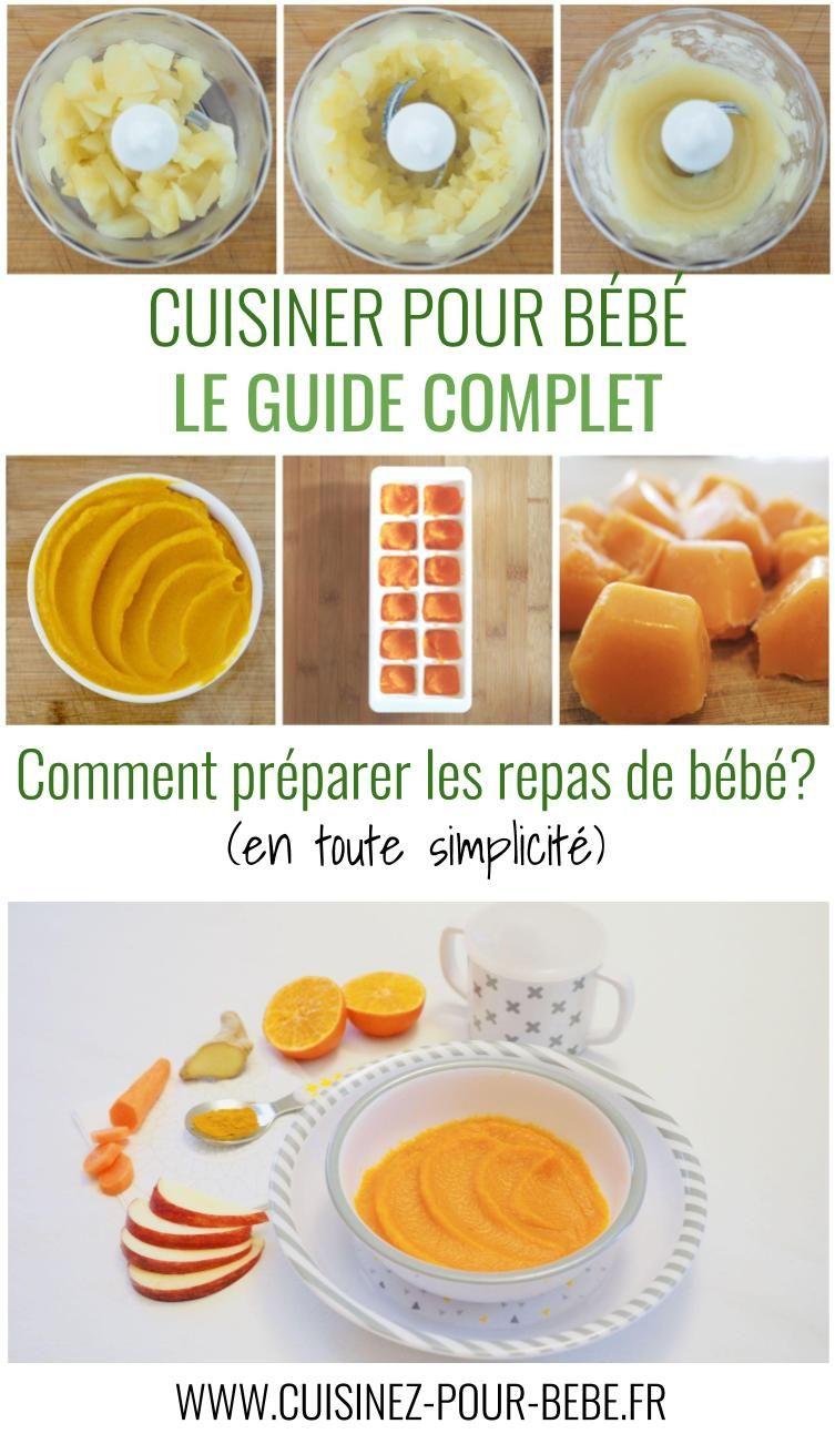 Le Guide Complet Pour Preparer Les Repas De Bebe En Toute Simplicite Cuisinez Pour Bebe Repas Bebe Repas Pour Bebe Faits Maison Aliments Pour Bebe Faits Maison