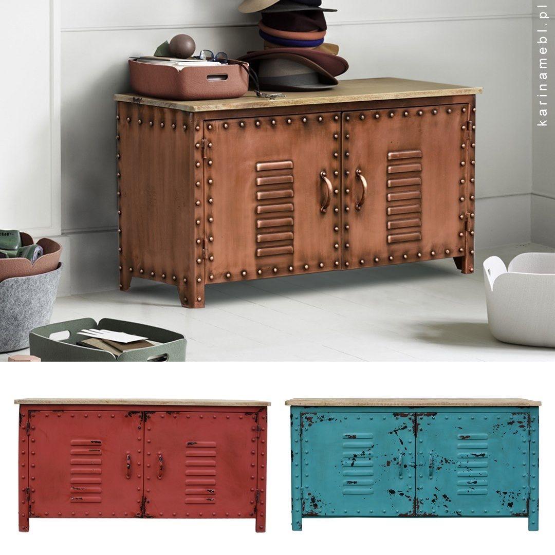 Meble Industrialne Metalowa Szafka Na Buty Copper Furniture Decor Storage