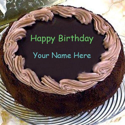 Write name on Happy Birthday Wishes Chocolate Cake Birthday cakes