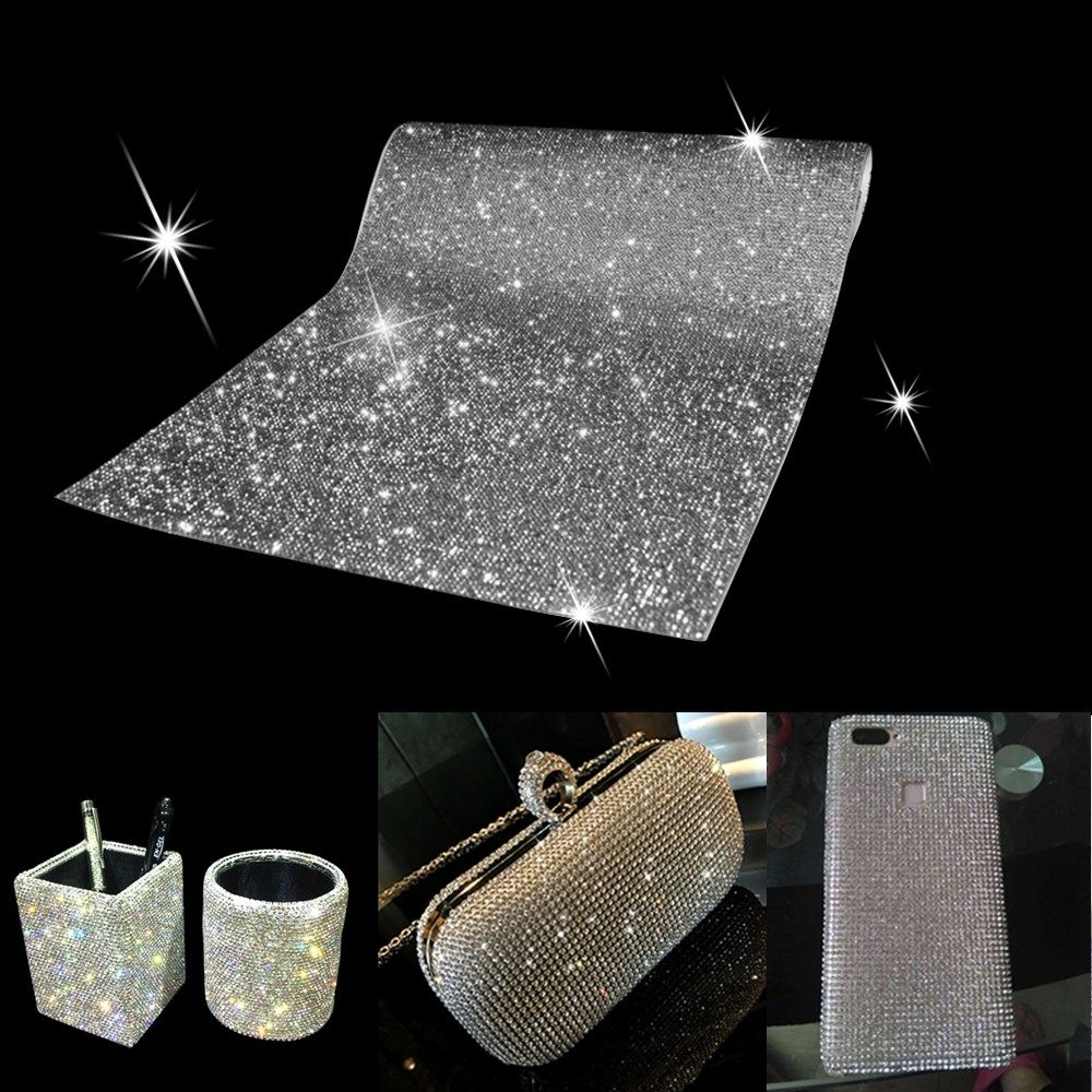 Dark Red 12000 Pieces Bling Bling Crystal Rhinestones Sticker DIY Car Decoration Sticker Self-Adhesive Glitter Rhinestones Crystal Gem Stickers for Car and Gift Decoration 9.4 x 7.9 Inch