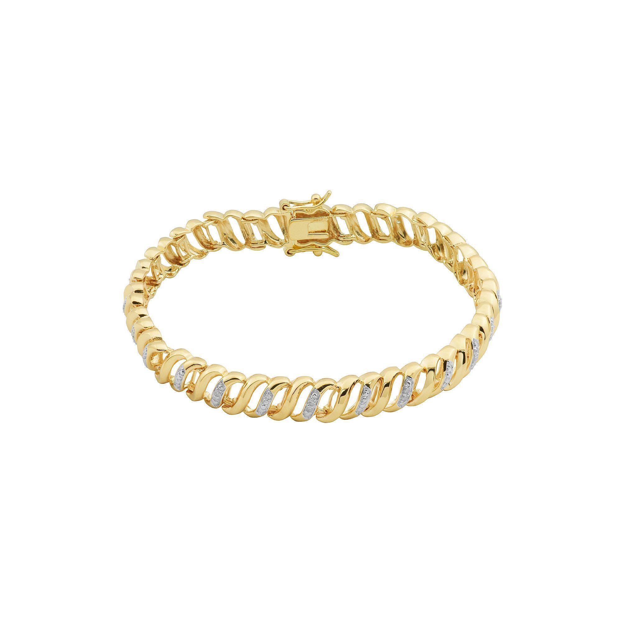 carat tw diamond k gold over silver tennis bracelet womenus