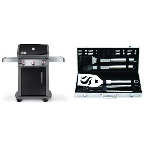 Weber 46510001 Spirit E310 Liquid Propane Gas Grill Black With Cuisinart Grilling Set Find Out More A Grilling Sets Propane Gas Grill Outdoor Cooking Grills
