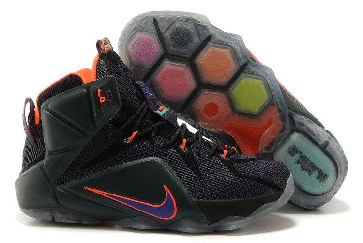 "988774d54d6c1 Nike LeBron 12 ""Instinct"" Cave Purple Hyper Grape-Hyper Crimson-Hyper  Turquoise 684593583"