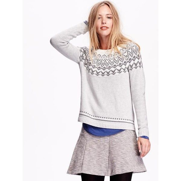 Old Navy Fair Isle Sweater ($30) ❤ liked on Polyvore featuring ...