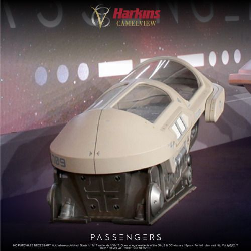 Win an actual hibernation pod prop used in Passengers! {US
