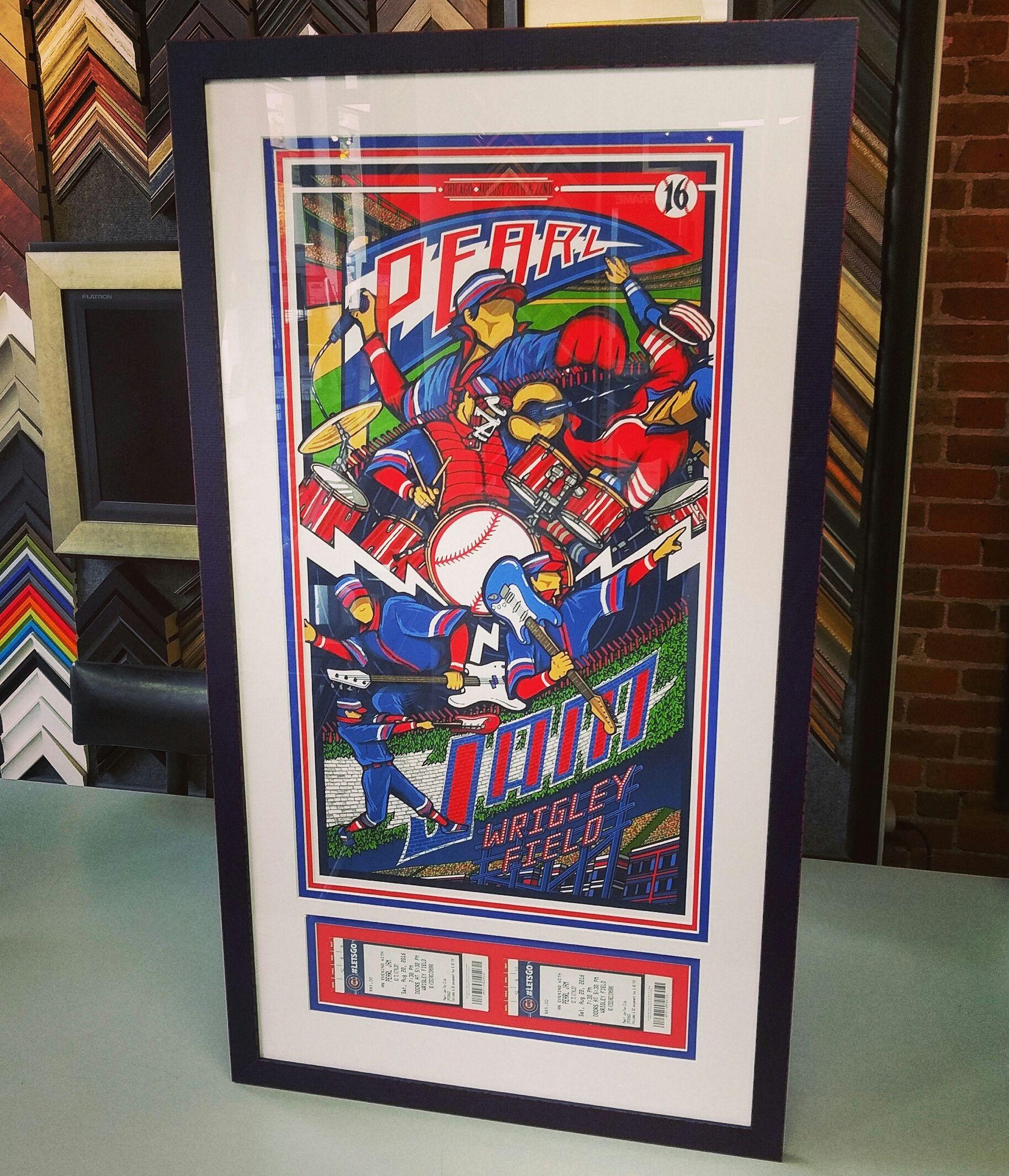 Custom Framed Pearl Jam Print Using Three Acid Free Mats Uv Glass