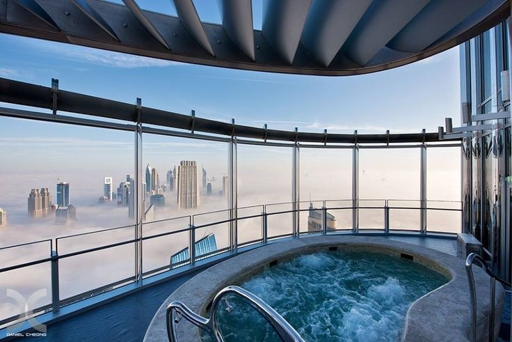 Hot tubbing above the clouds (Burj Khalifa 76th floor, Daniel Cheong)