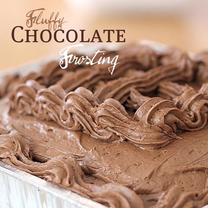With a Grateful Prayer and a Thankful Heart: Fluffy Chocolate Frosting