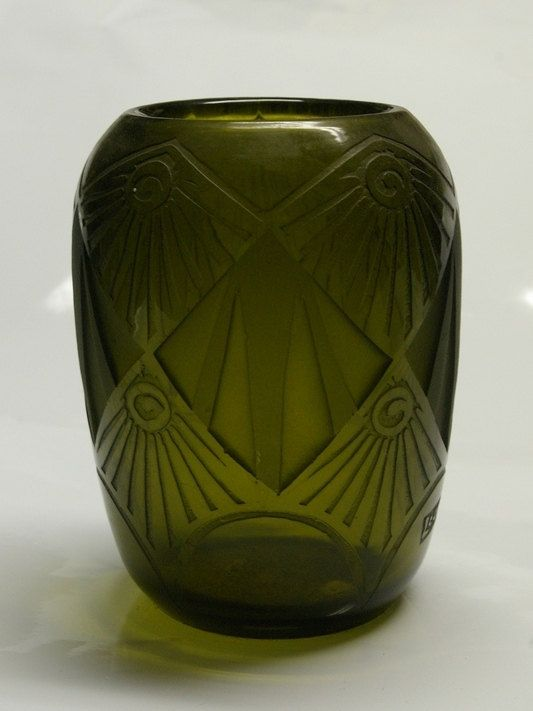 Legras Olive Green Vase Art And Music Amp Movies Green