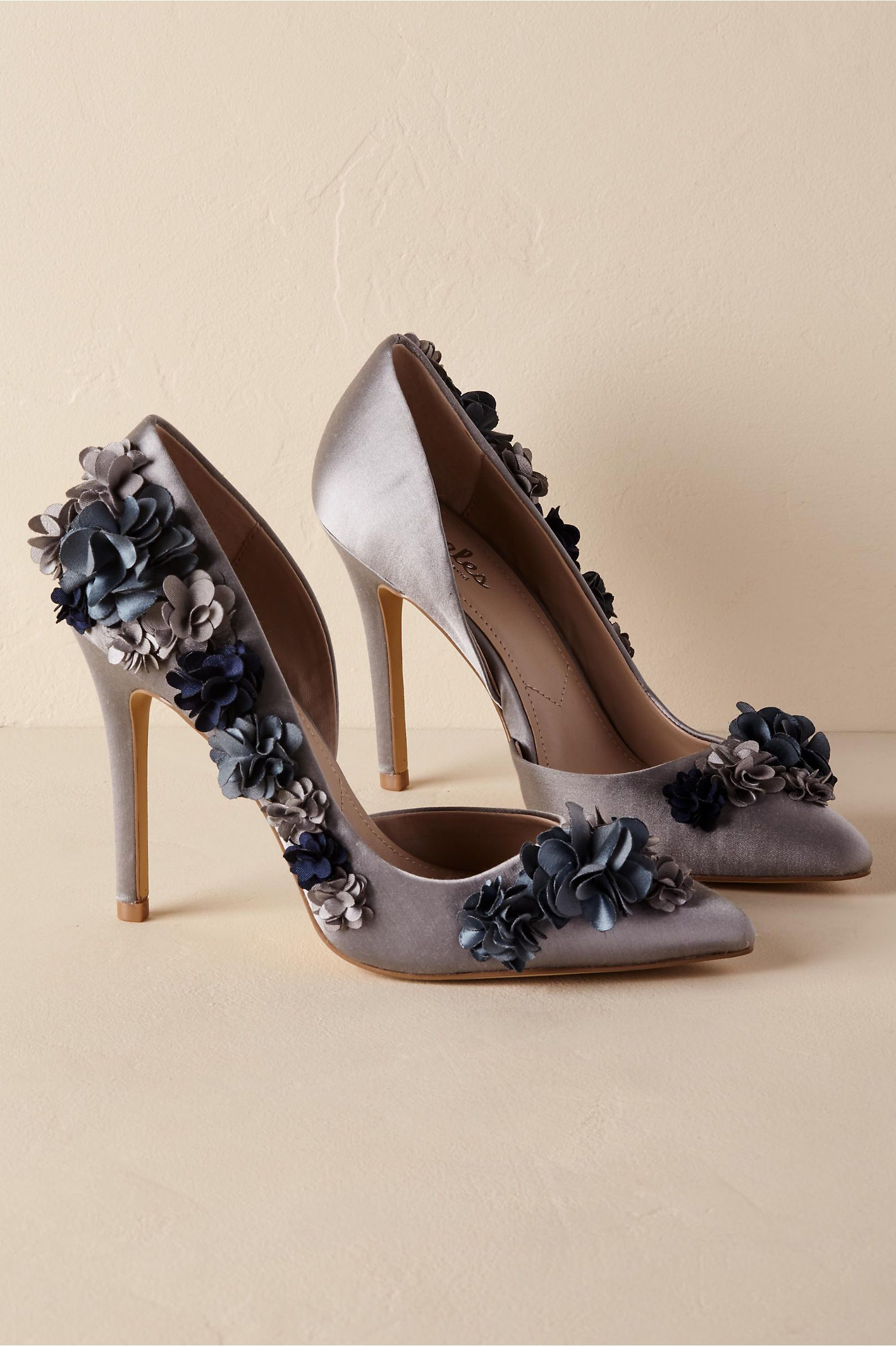 BHLDN Flora Heels Dark blu  in New & Noteworthy  blu  BHLDN   Style   ff6879