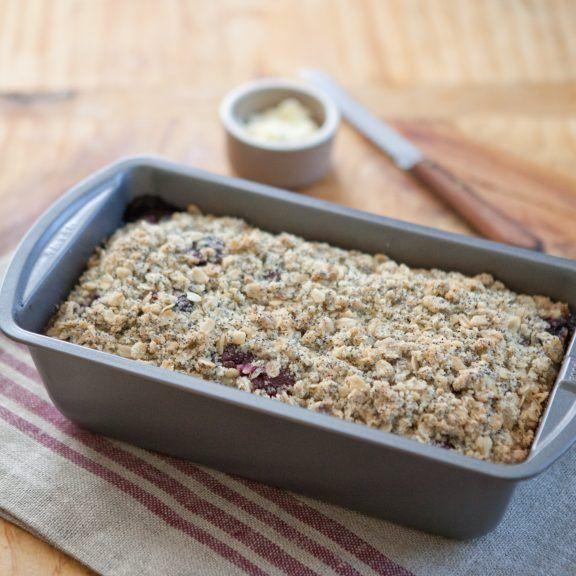 Cherry and Poppy Seed Yogurt Cake | A Sweet Spoonful