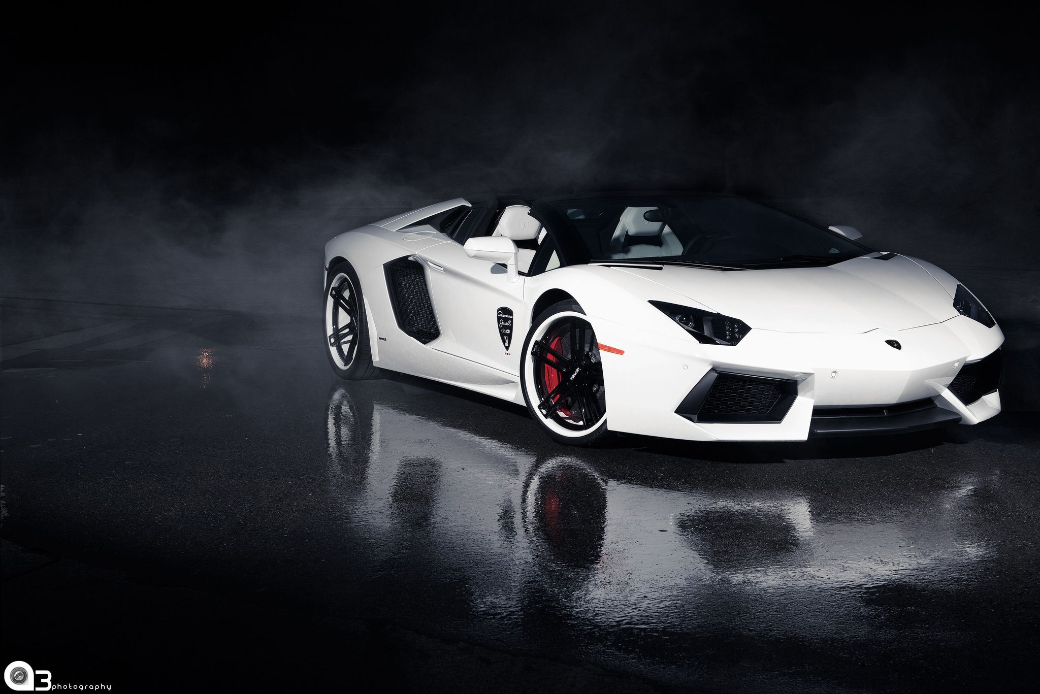 Lamborghini Aventador Roadster White Giovanna Wheels Wallpaper