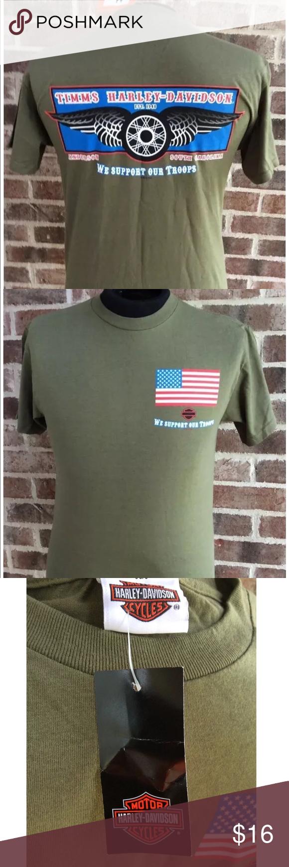 Mens Harley Davidson Military Appreciation Tshirt Nwt Appreciation