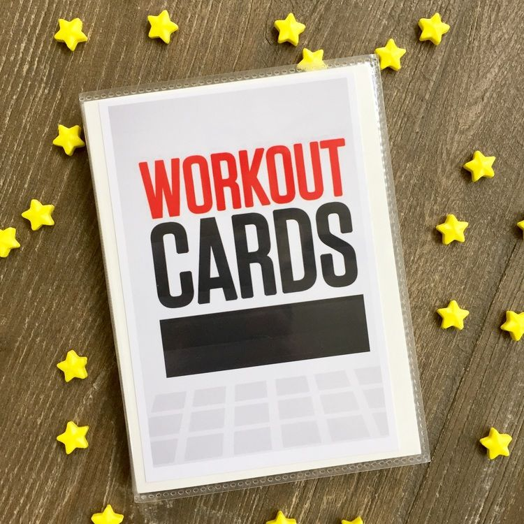 Free printable workout cards — Katie the Creative Lady