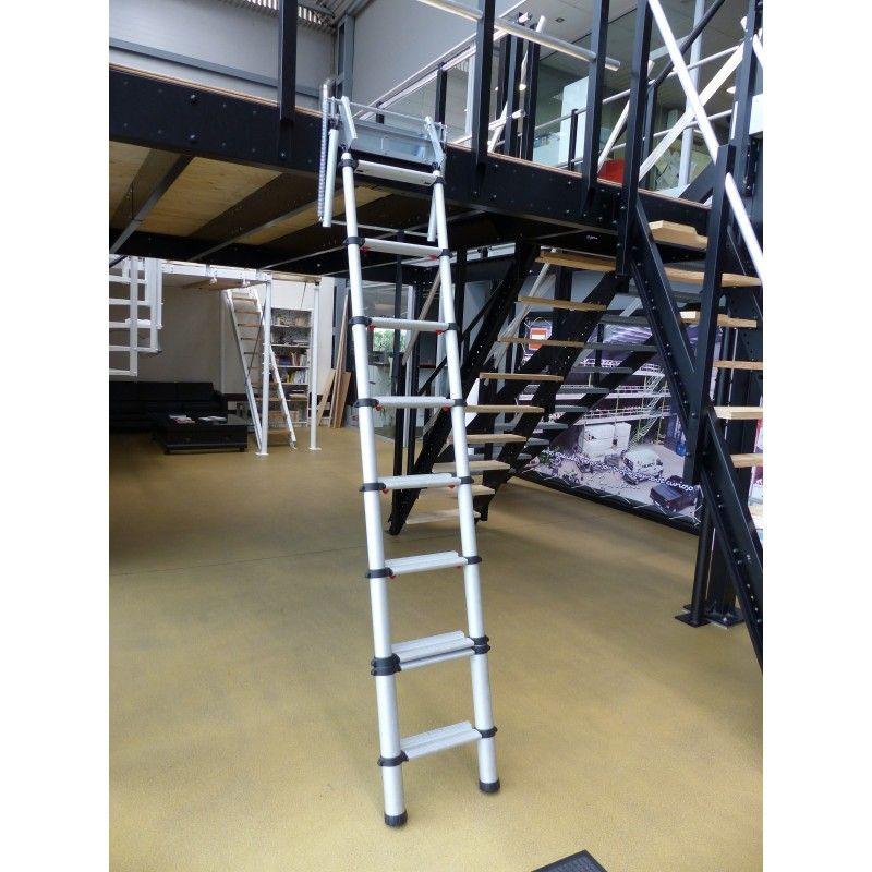 Escalera Escamoteable De Aluminio Tecrostar Com En 2020 Escalera Escamoteable Escalera Aluminio Anodizado