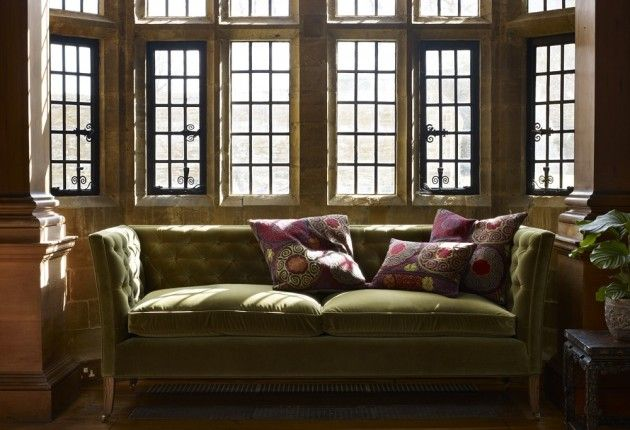 The Descartes Three Seat Sofa In Olive Pure Cotton Matt Velvet, Well Then  Iu0027ll Have 2 Please Ta.