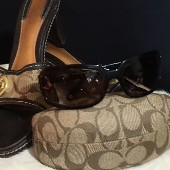 de1b3d94ee21 COACH ~ Samantha Sunglasses with Coach Case COACH ~ Samantha Sunglasses  with Coach Case ~ tortoise brown ~ never worn ~ Coach Accessories Sunglasses