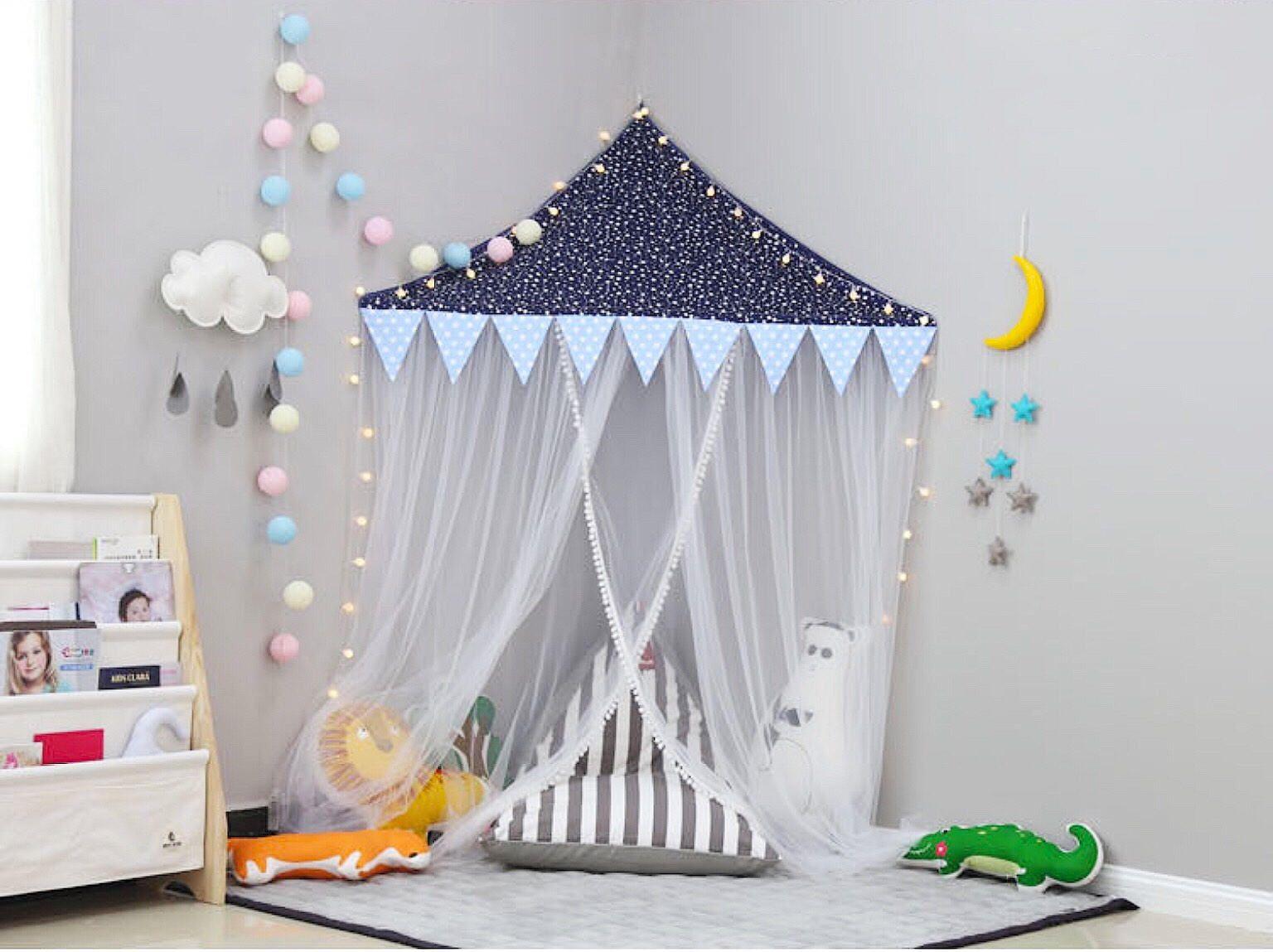 Teepee  kids playroom wall canopy  kids room  nursery decor  play tent & Teepee  kids playroom wall canopy  kids room  nursery decor ...