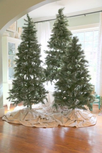 Now Try This Christmas Tree Clusters The Decorologist Christmas Tree Forest Flocked Christmas Trees Hanging Christmas Lights